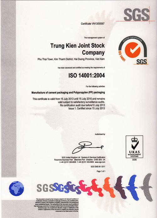 Tiêu chuẩn ISO 14001:2004