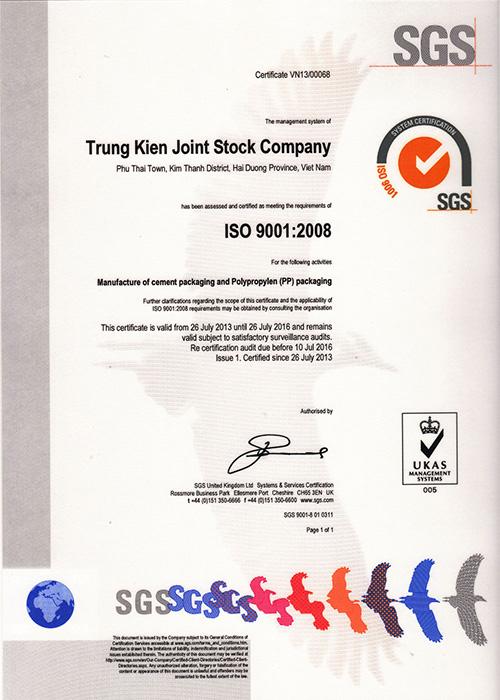 Tiêu chuẩn ISO 9001:2008